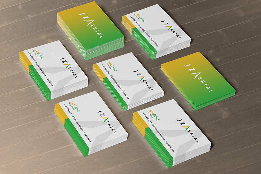 JZ Aerial Business Card Design