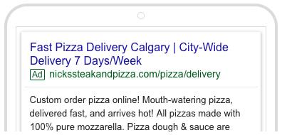 Nicks Google Search Ad 2